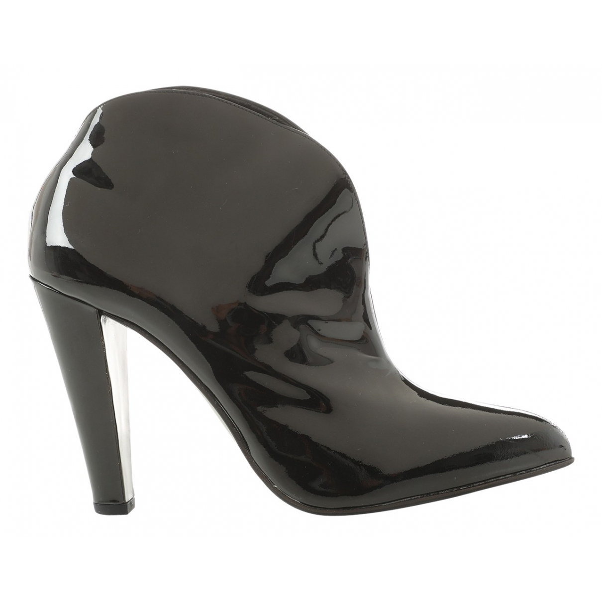 Miu Miu \N Black Patent leather Ankle boots for Women 39.5 EU