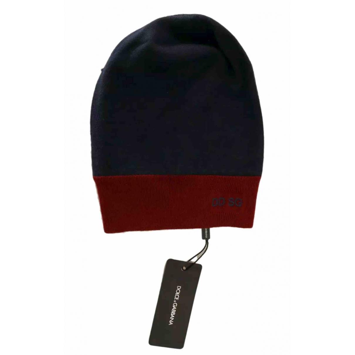 Dolce & Gabbana - Chapeau & Bonnets   pour homme en laine - bleu