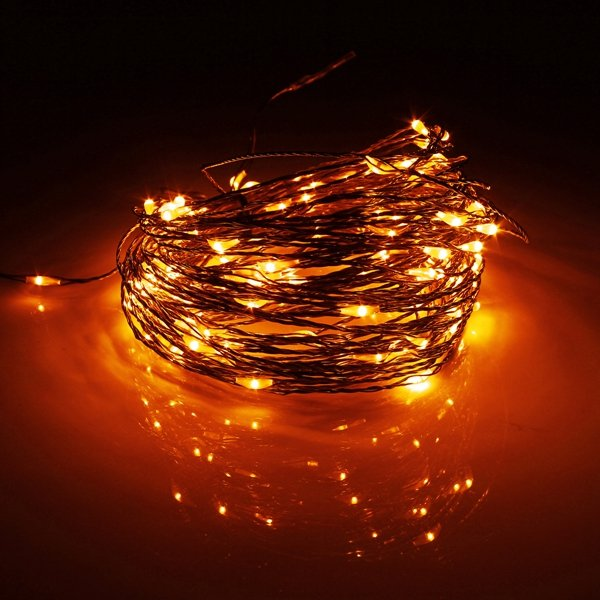 20M 200 LED Solar Powered Copper Wire String Fairy Light Christmas Party Home Decor