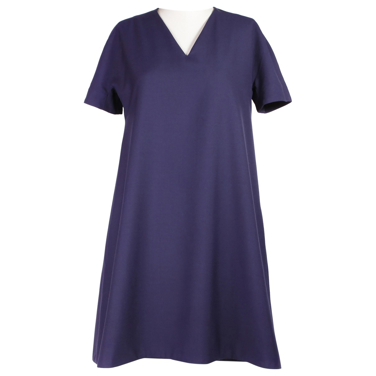 Balenciaga - Robe   pour femme en laine - marine