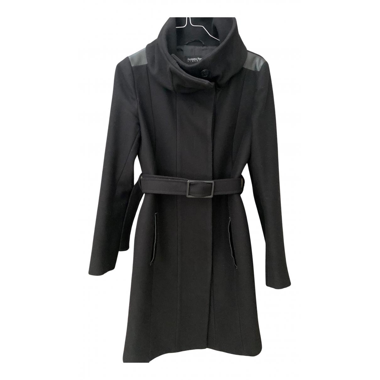 Patrizia Pepe N Black Wool coat for Women 40 IT