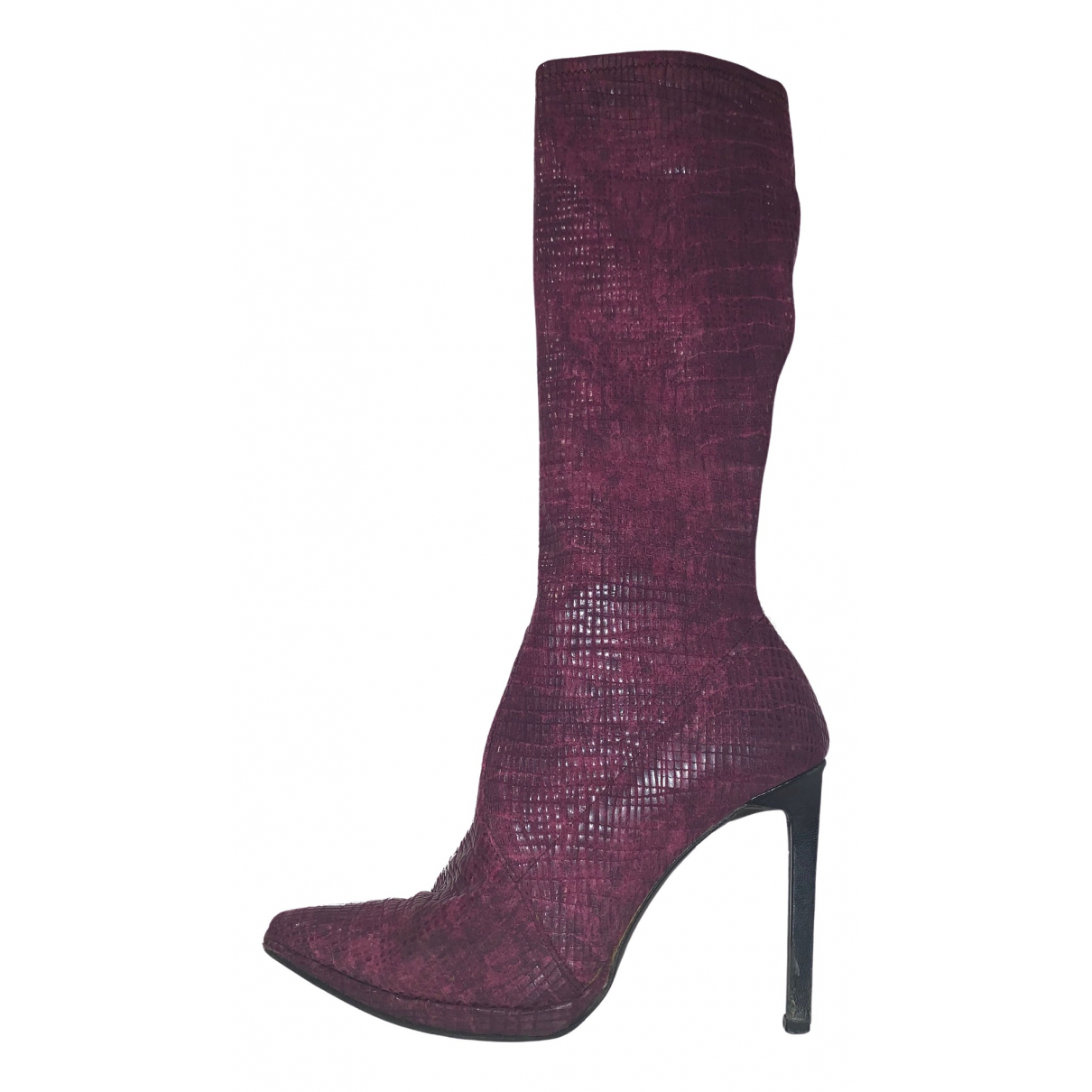 Casadei \N Burgundy Boots for Women 38.5 IT