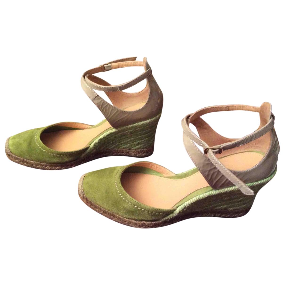 Maliparmi - Sandales   pour femme en cuir verni - vert