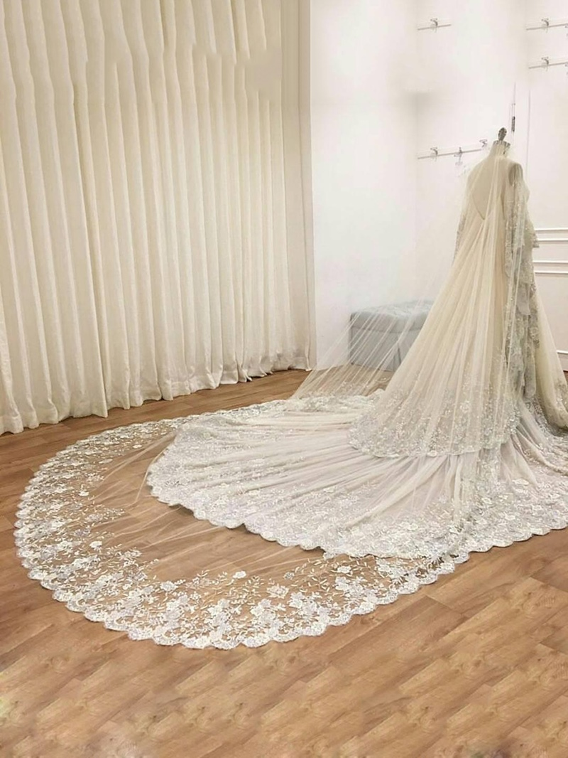 Ericdress 1T Lace Edge Bridal Cathedral Veil for Wedding