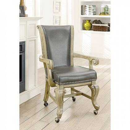 Melina CM-GM367GY-AC-2PK Arm Chair in