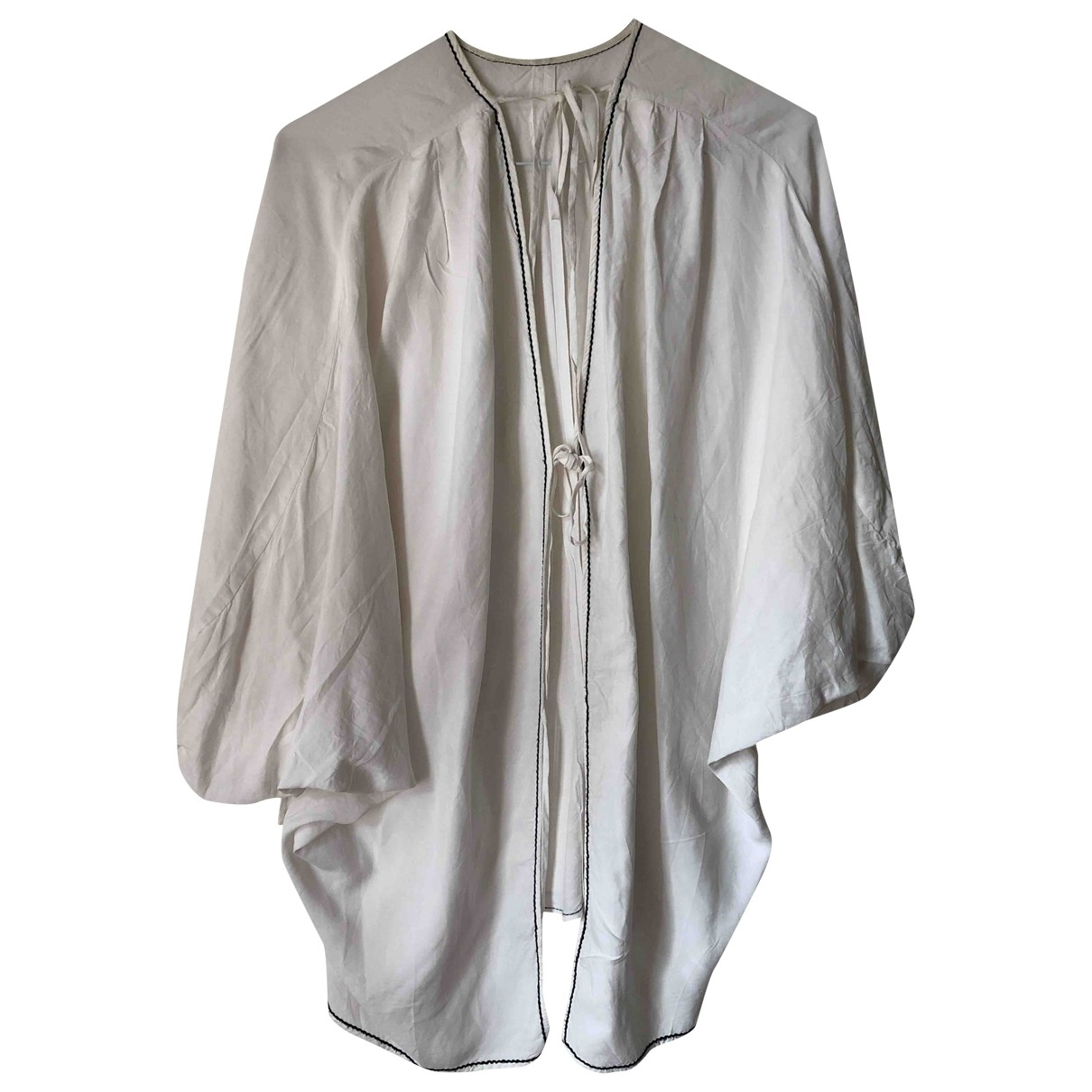 Rejina Pyo - Top   pour femme en lin - blanc