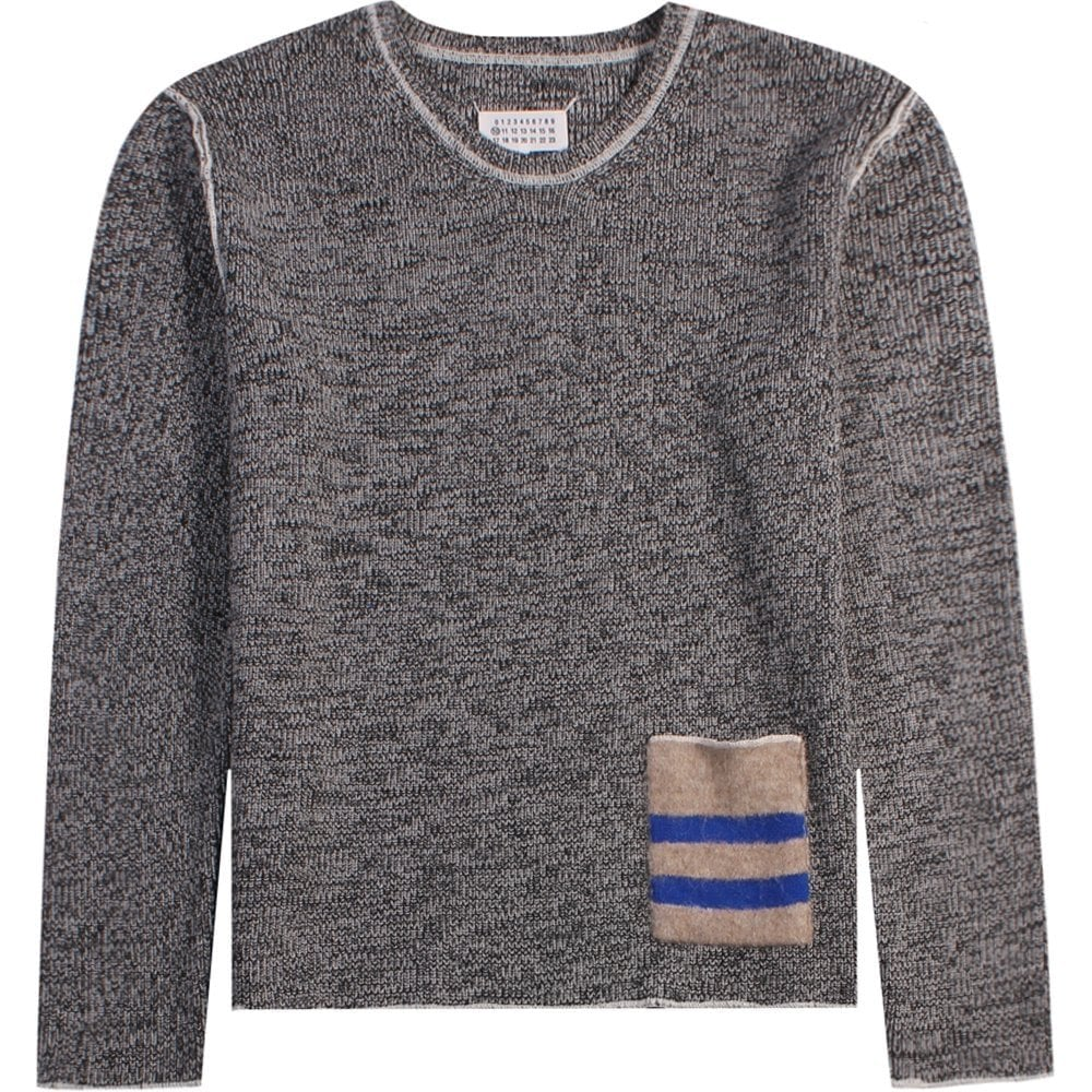Maison Margiela Knitted Pocket Jumper Grey Colour: GREY, Size: SMALL