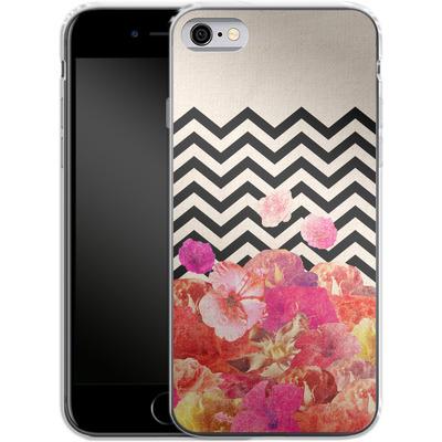 Apple iPhone 6s Silikon Handyhuelle - Chevron Flora II von Bianca Green