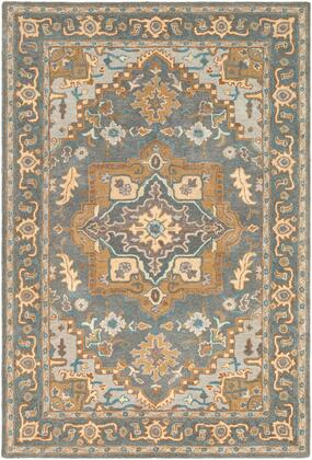 Tabriz TBZ-1002 8 x 10 Rectangle Traditional Rugs in Medium Gray  Tan  Light Gray  Cream