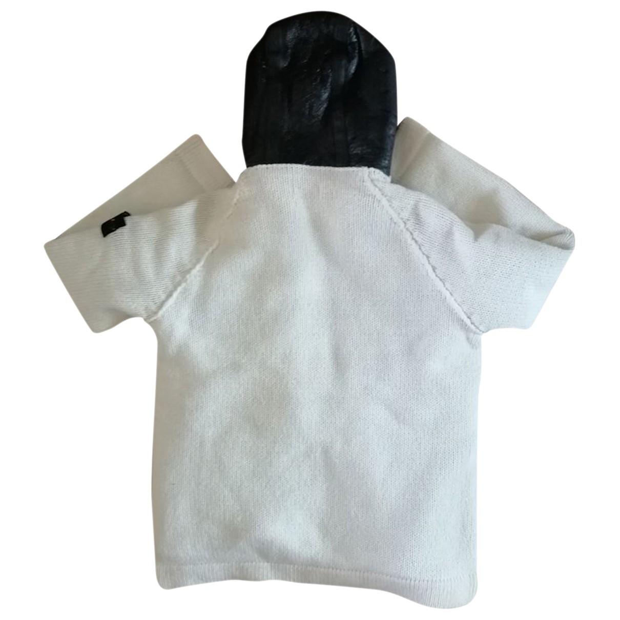 Stone Island - Manteau   pour femme en laine - blanc