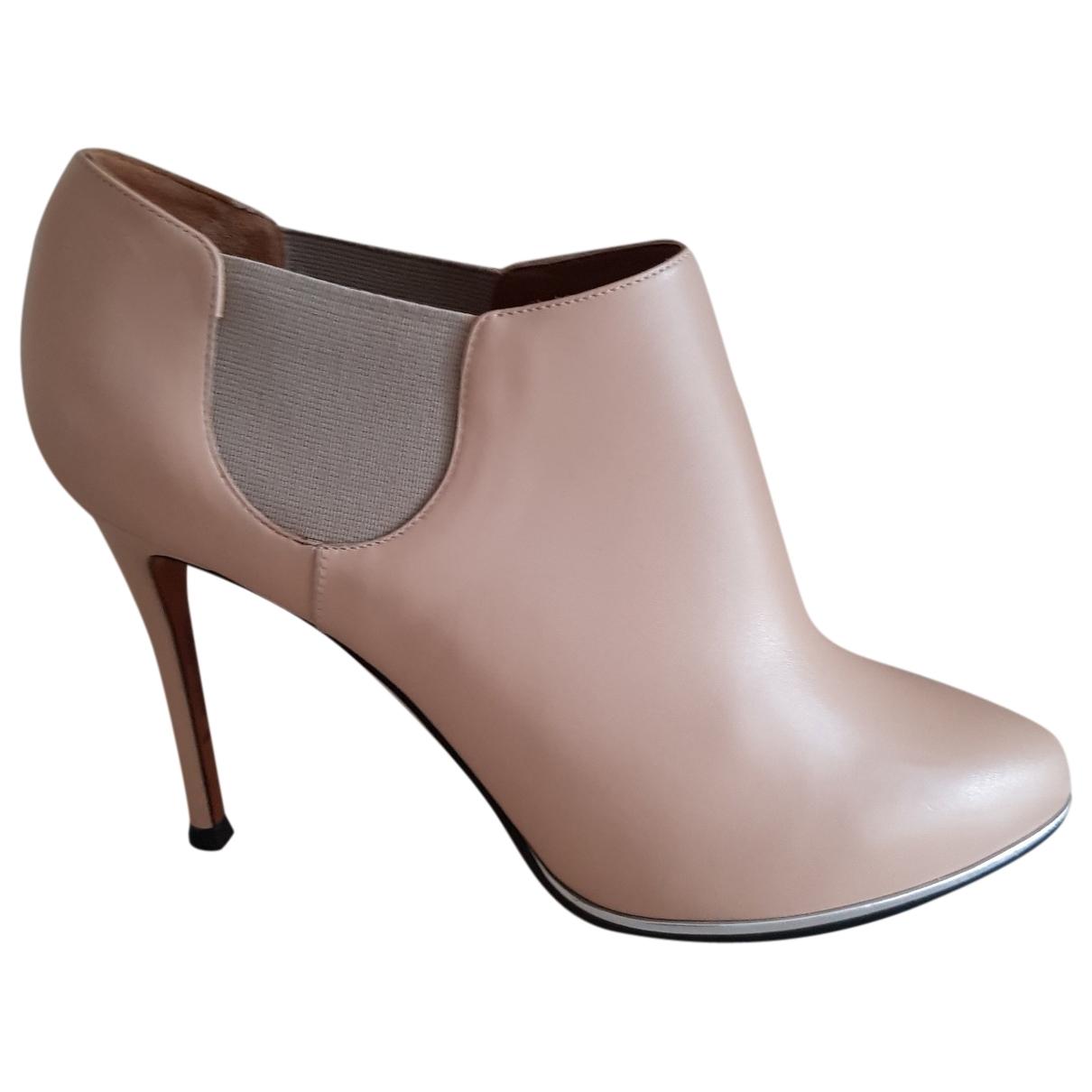 Givenchy - Boots   pour femme en cuir - beige