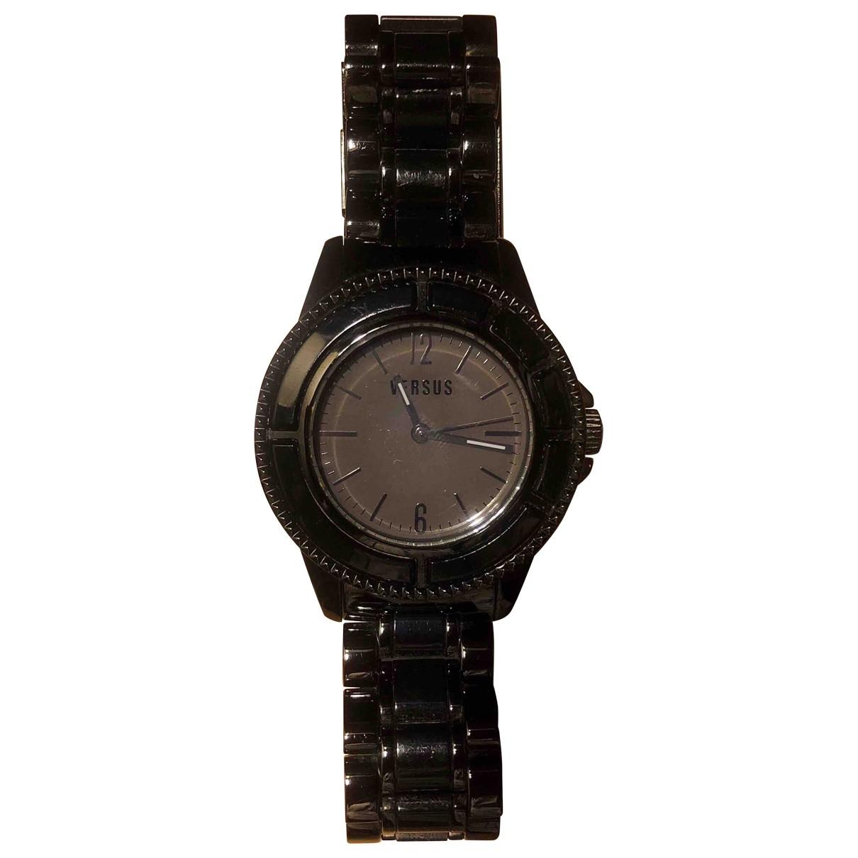 Versus \N Uhr in  Schwarz Stahl