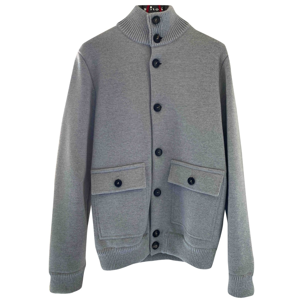 Non Signe / Unsigned \N Jacke in  Grau Wolle