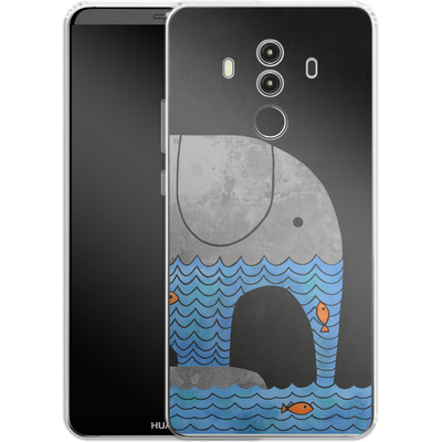 Huawei Mate 10 Pro Silikon Handyhuelle - Thirsty Elephant von Terry Fan