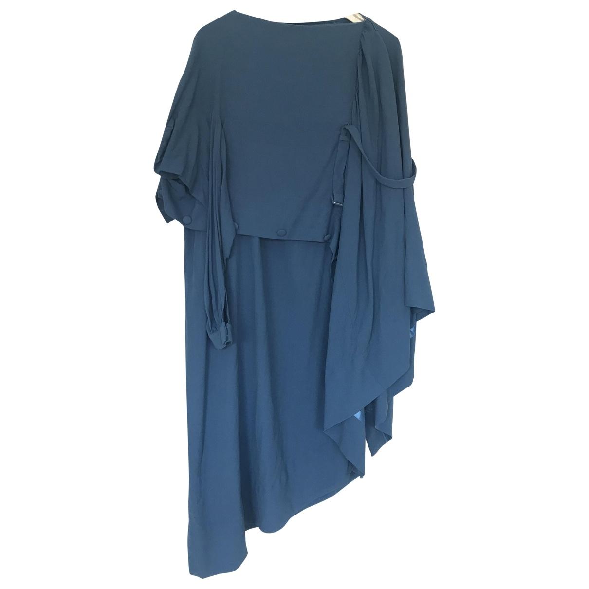 Maison Martin Margiela Pour H&m \N Kleid in  Blau Viskose
