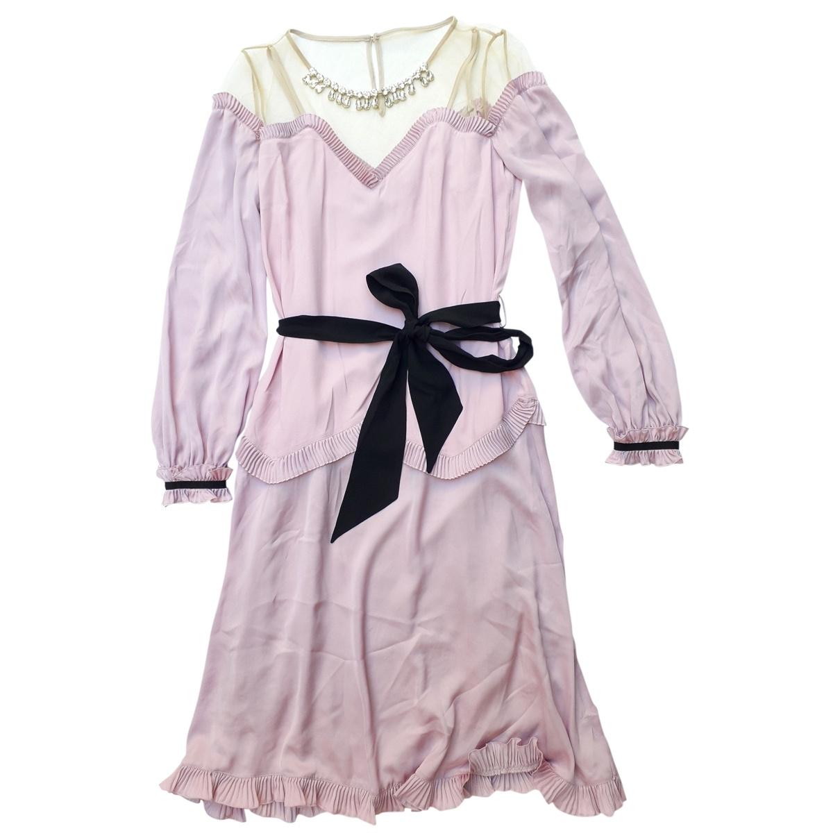 Class Cavalli \N Pink Silk dress for Women 40 IT