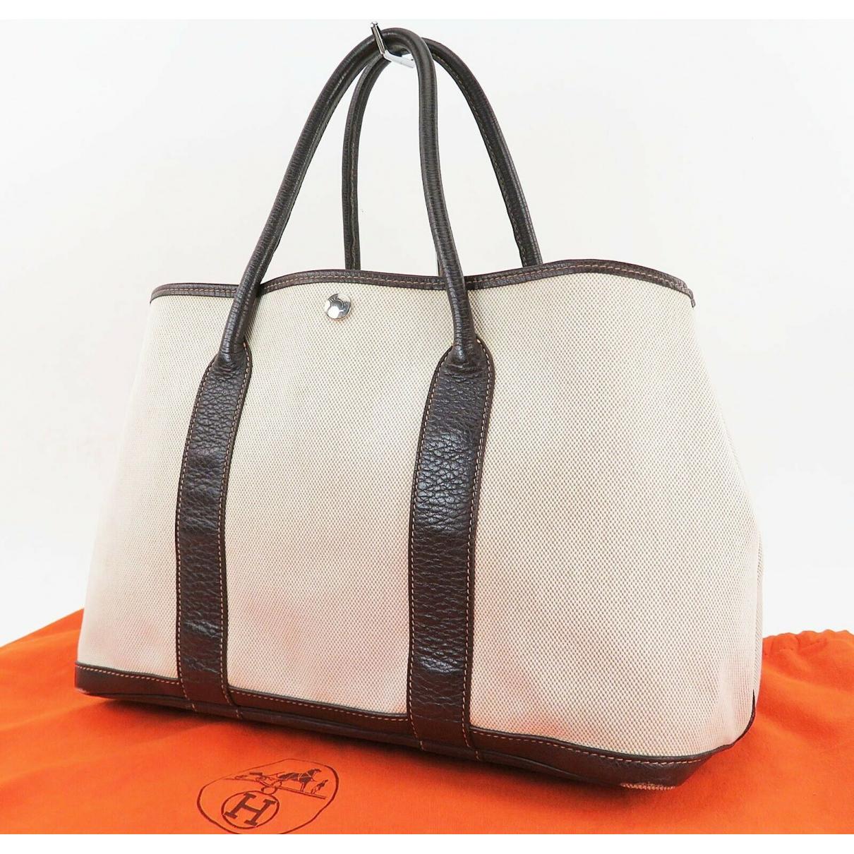 Hermès Garden Party Beige Leather handbag for Women \N