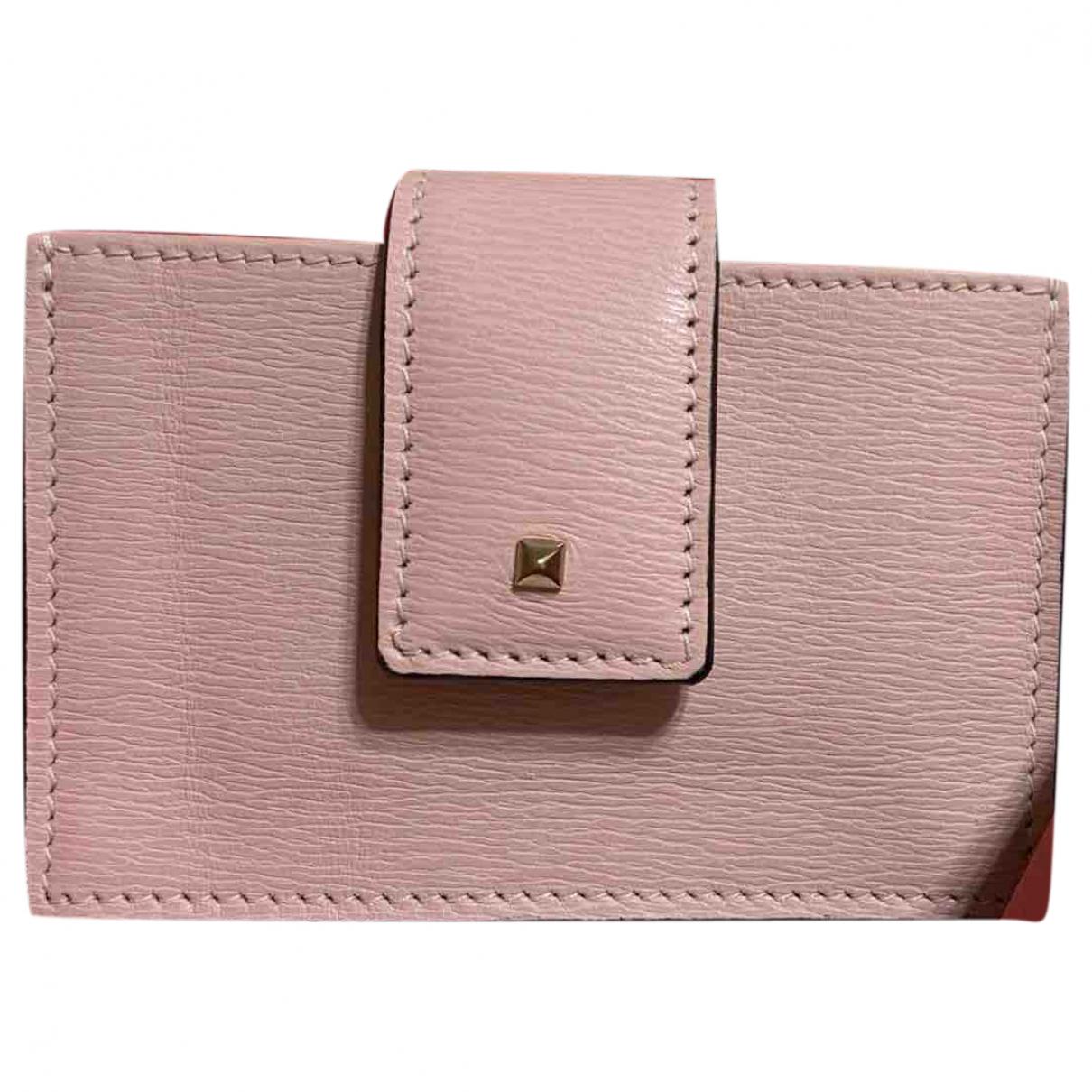Valentino Garavani \N Pink Leather Purses, wallet & cases for Women \N