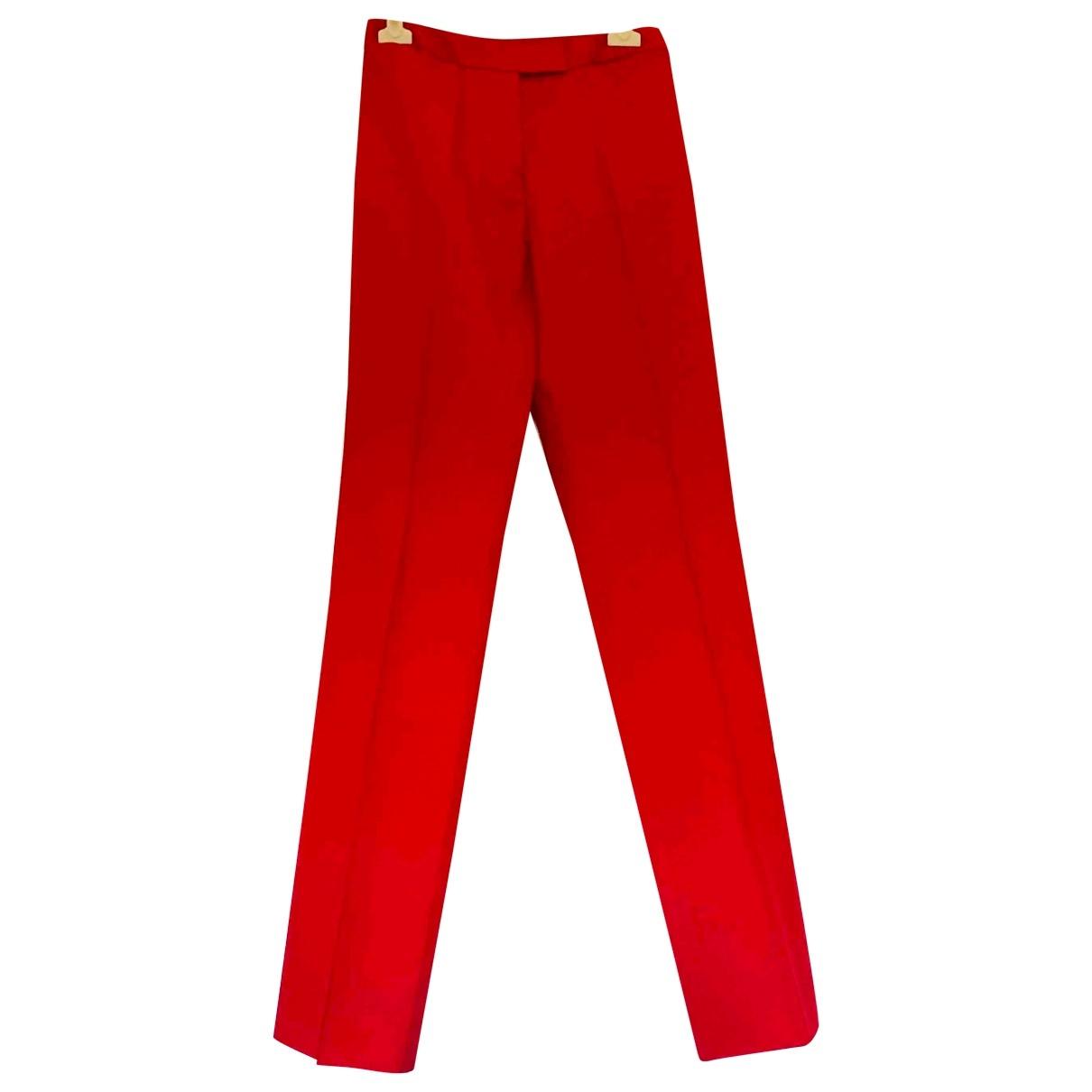 Pantalon recto de Lana Alexander Mcqueen