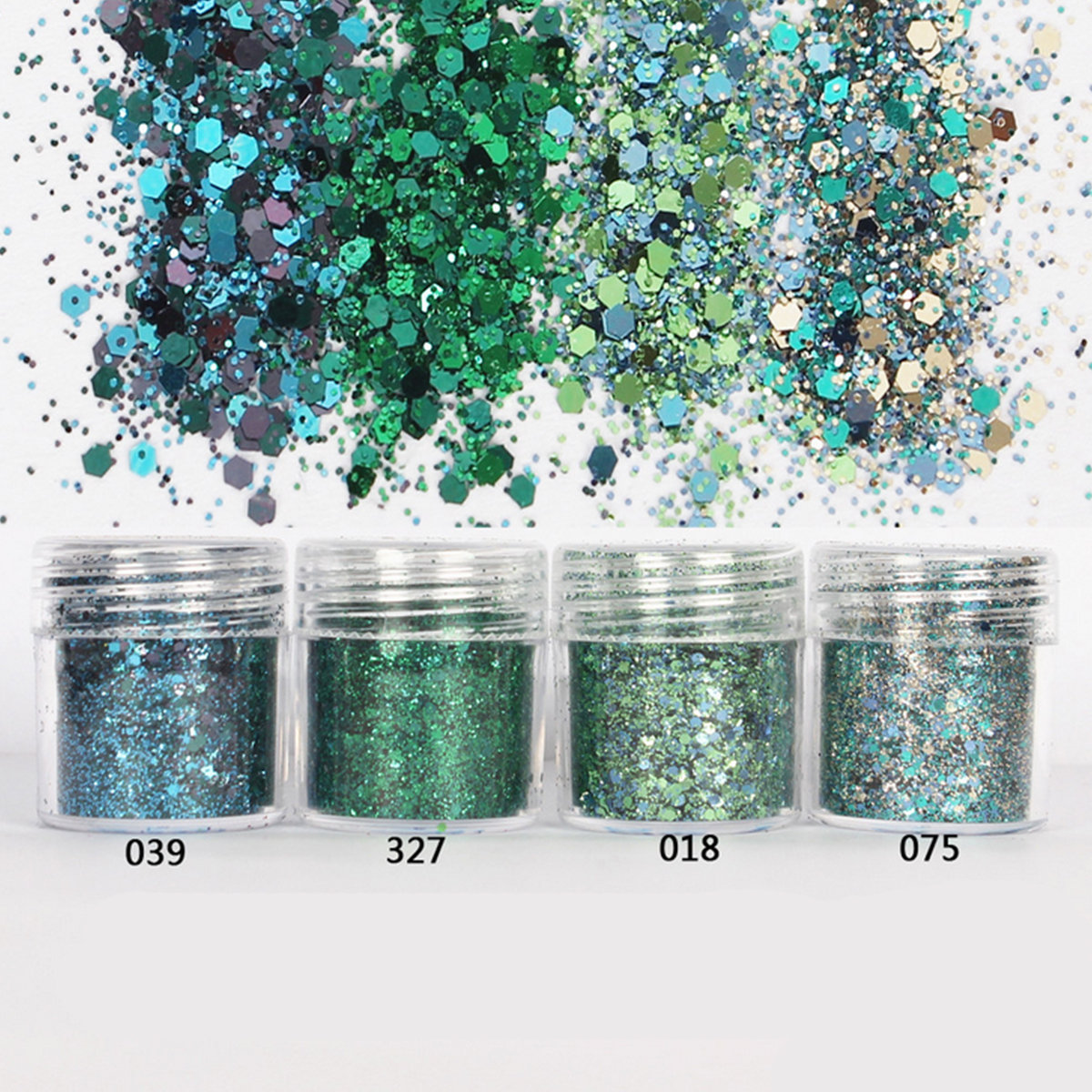 Nail Glitter Dust Powder Sequins Decoration Green Tattoo Powder Holographic Pigment Manicure