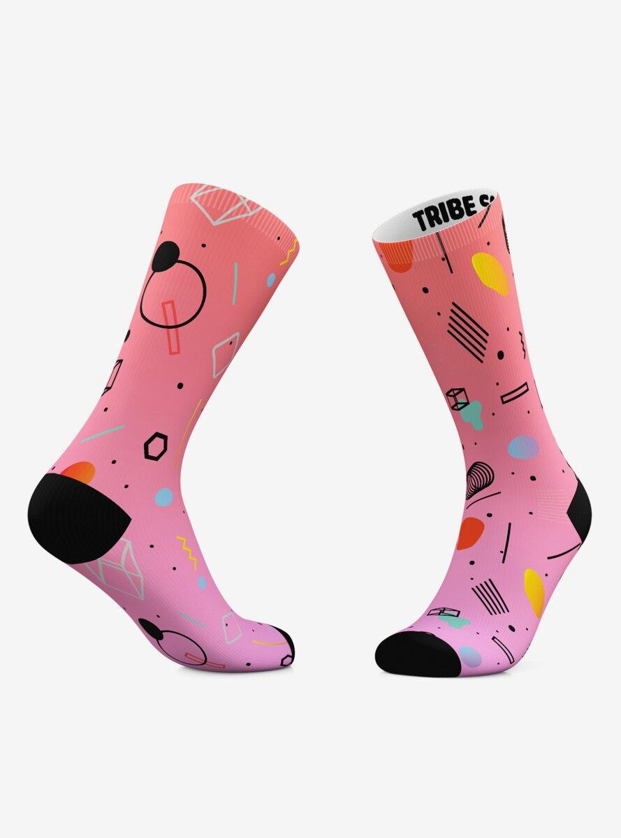 Neon 80S And Ice Cream 80S Crew Socks 2 Pair