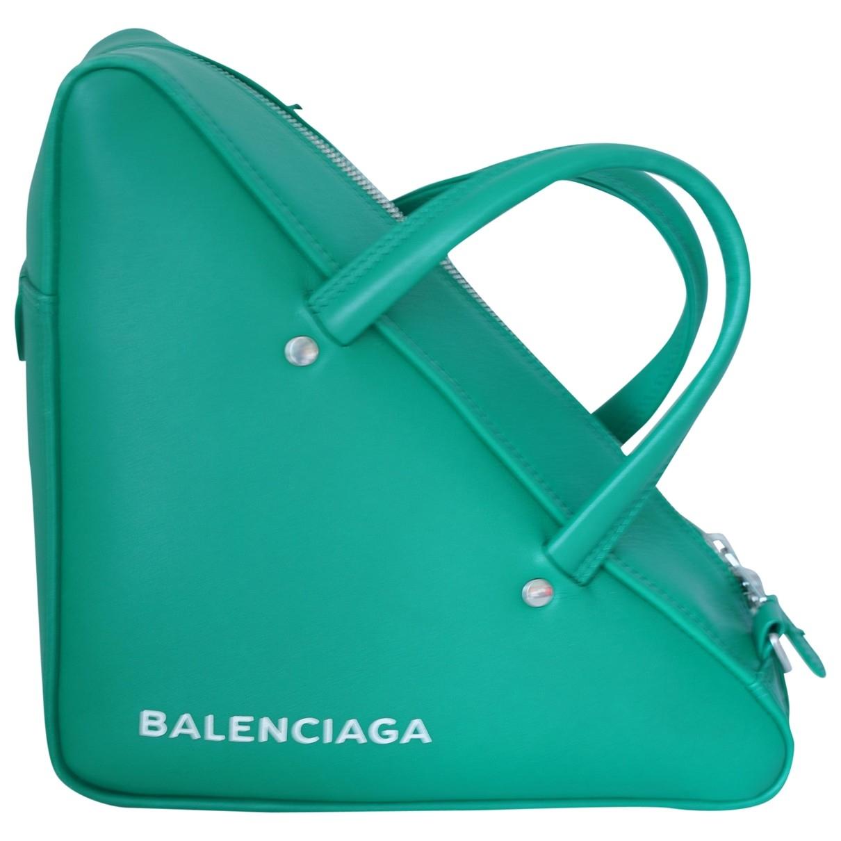 Balenciaga Triangle Green Leather handbag for Women \N