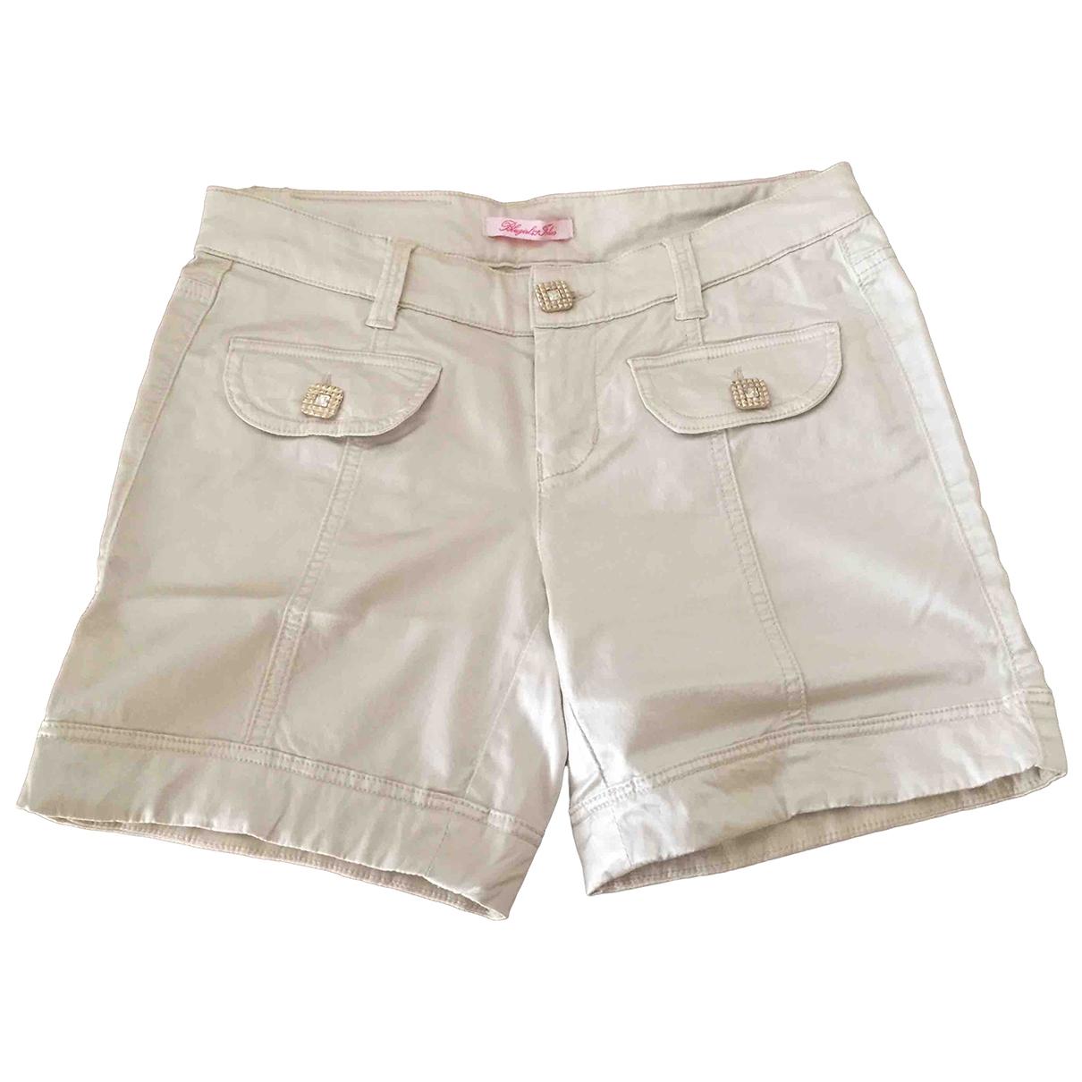 Blumarine \N Shorts in  Ecru Baumwolle - Elasthan