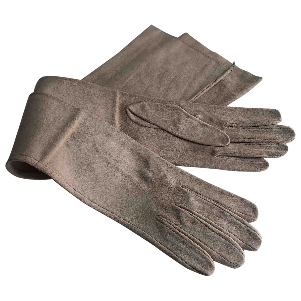 Gucci \N Pink Suede Gloves for Women 7 Inches