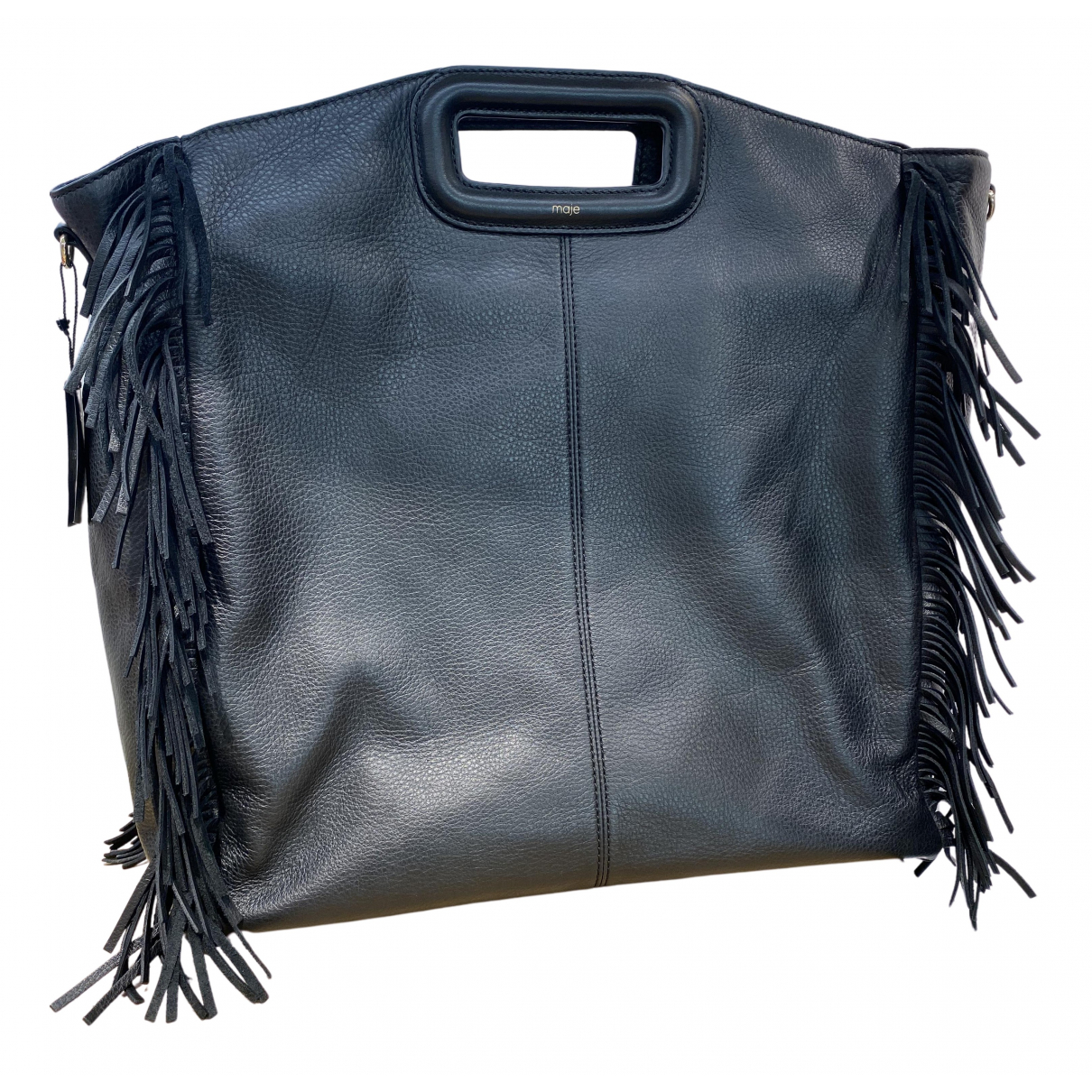 Maje Sac M Black Leather handbag for Women N