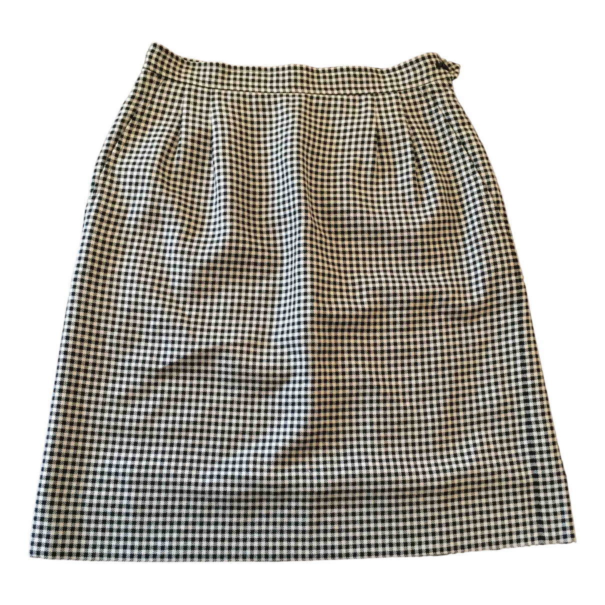 Yves Saint Laurent N Beige / Black Wool skirt for Women 40 FR