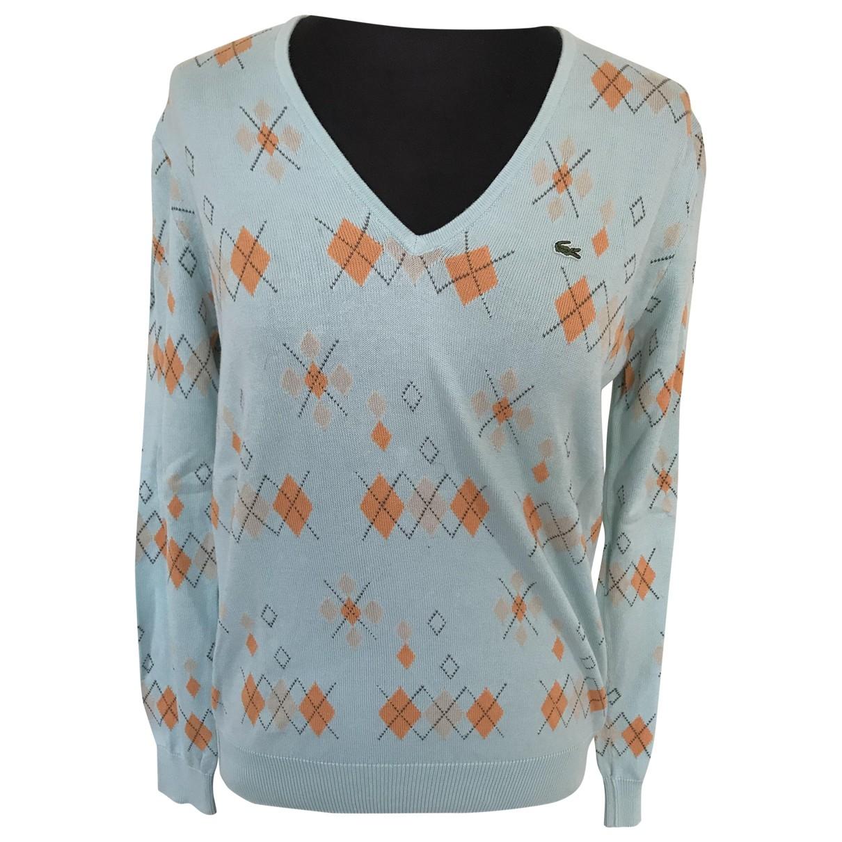 Lacoste \N Blue Cotton Knitwear for Women 42 FR