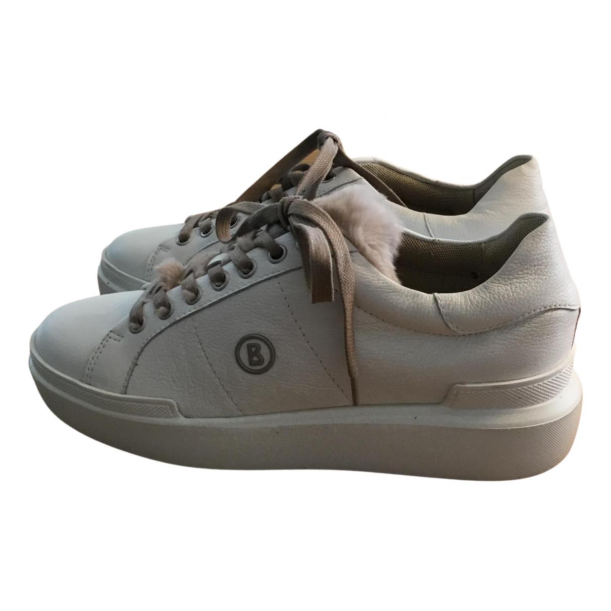 Bogner \N Sneakers in  Weiss Leder