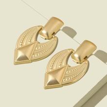 Metal Geometric Drop Earrings