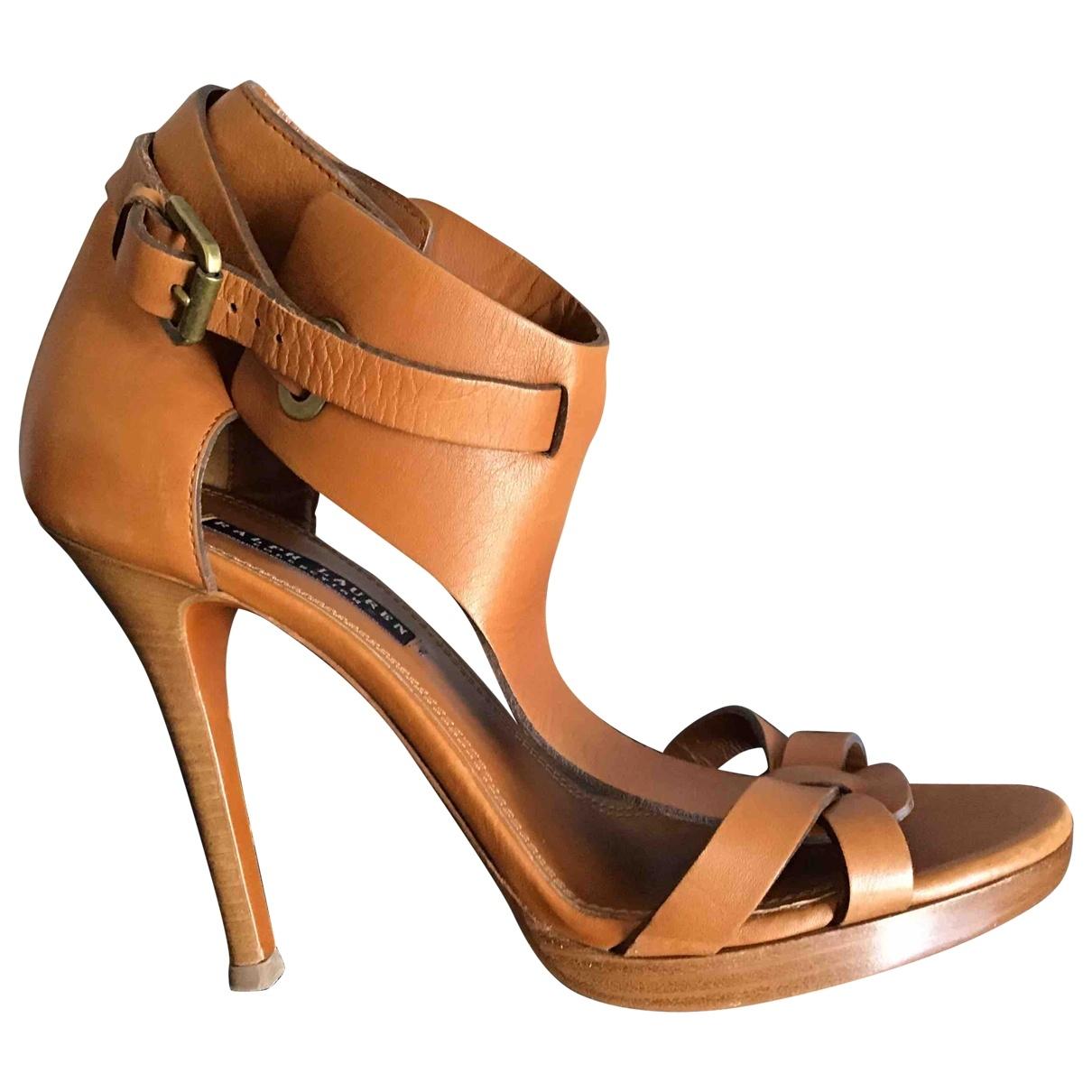 Ralph Lauren \N Brown Leather Sandals for Women 39 EU