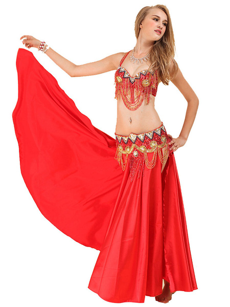 Milanoo Belly Dance Costume Chain Bollywood Dance Outfit