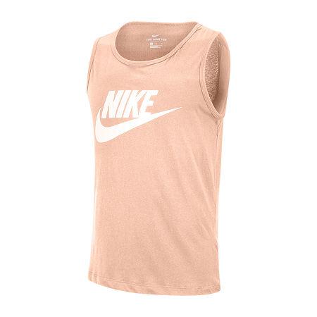 Nike Mens Sleeveless Tank Top, Large , Orange
