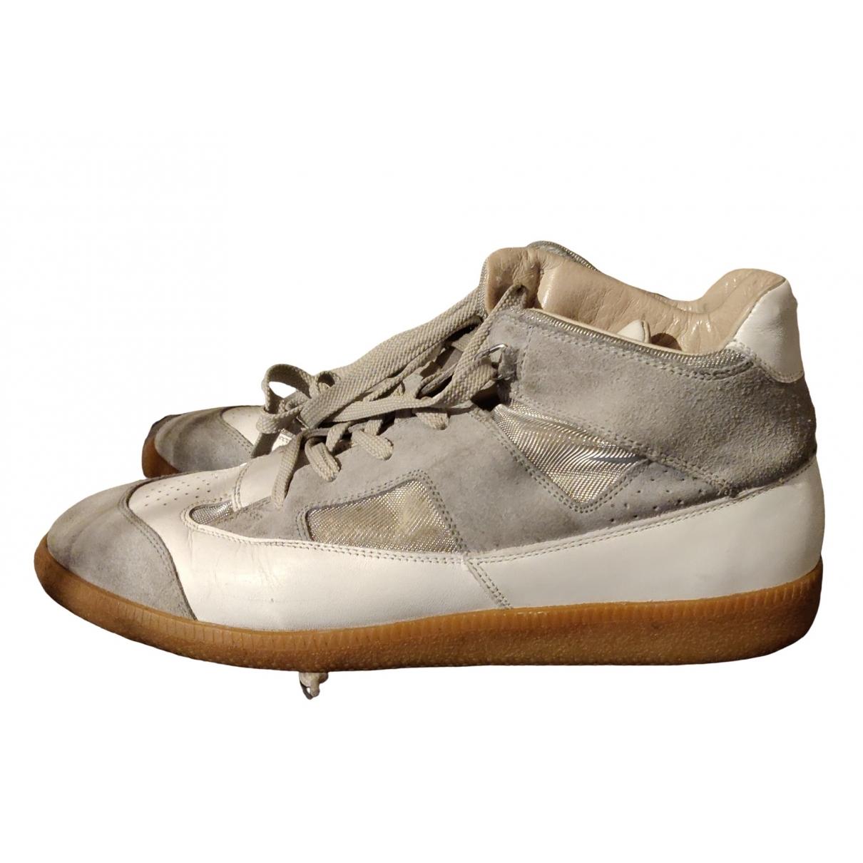 Maison Martin Margiela \N Sneakers in  Beige Veloursleder