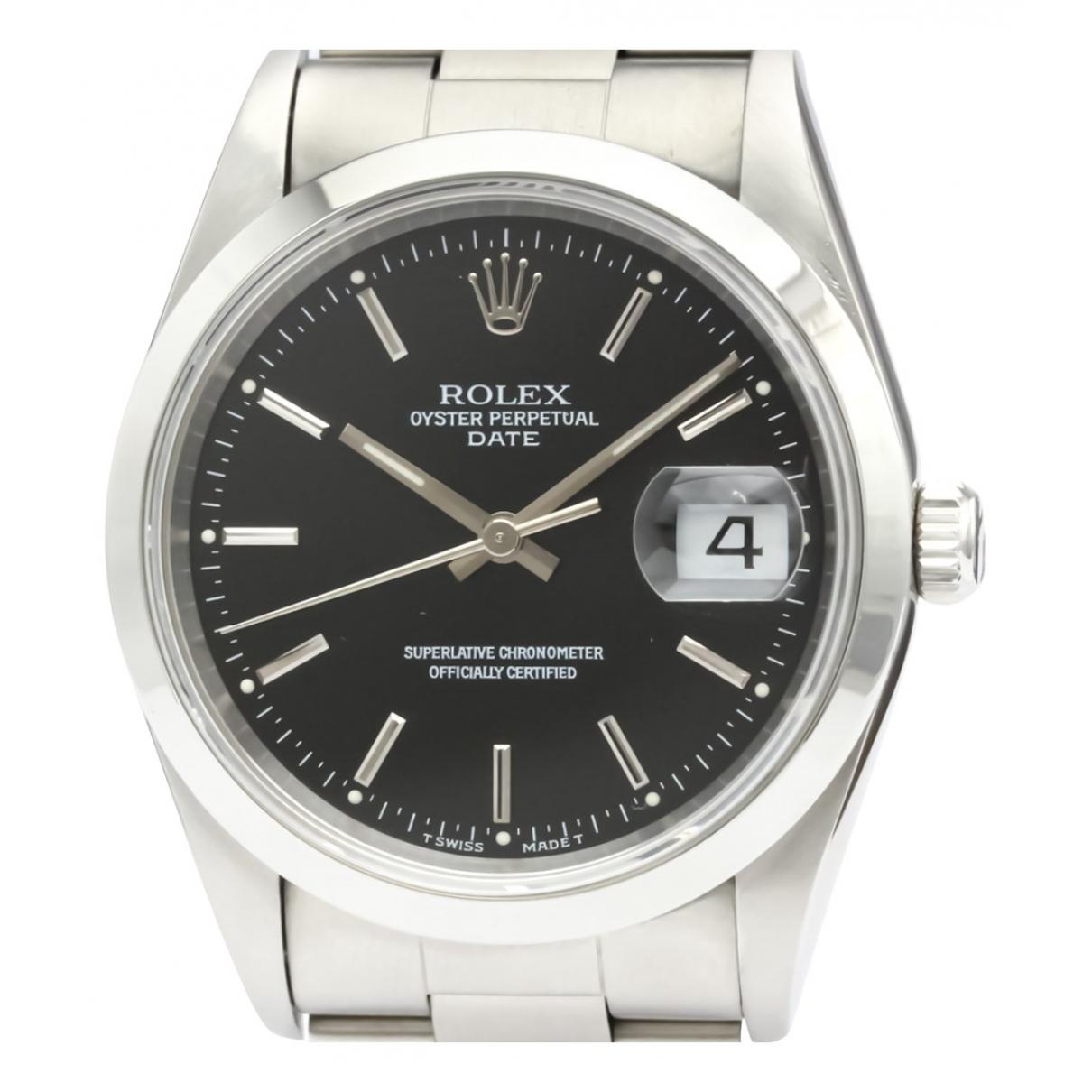 Rolex - Montre Oyster Perpetual 34mm pour homme en acier - noir