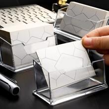 Transpareter Visitenkarten-Schreibtischhalter