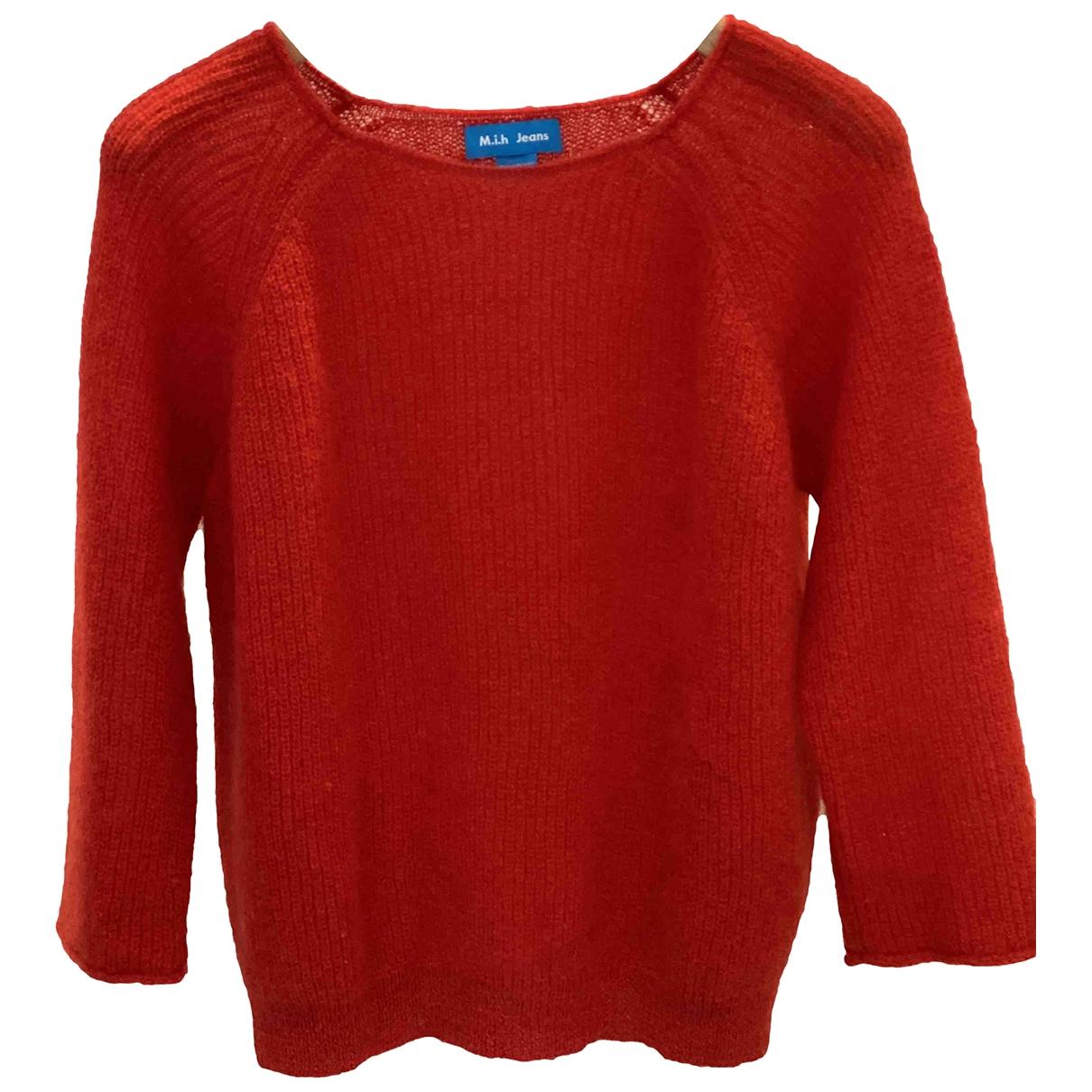 Mih Jean - Pull   pour femme en laine - rouge