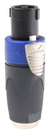 Neutrik Adapter, Male 1/4 in Mono to Female, Blue