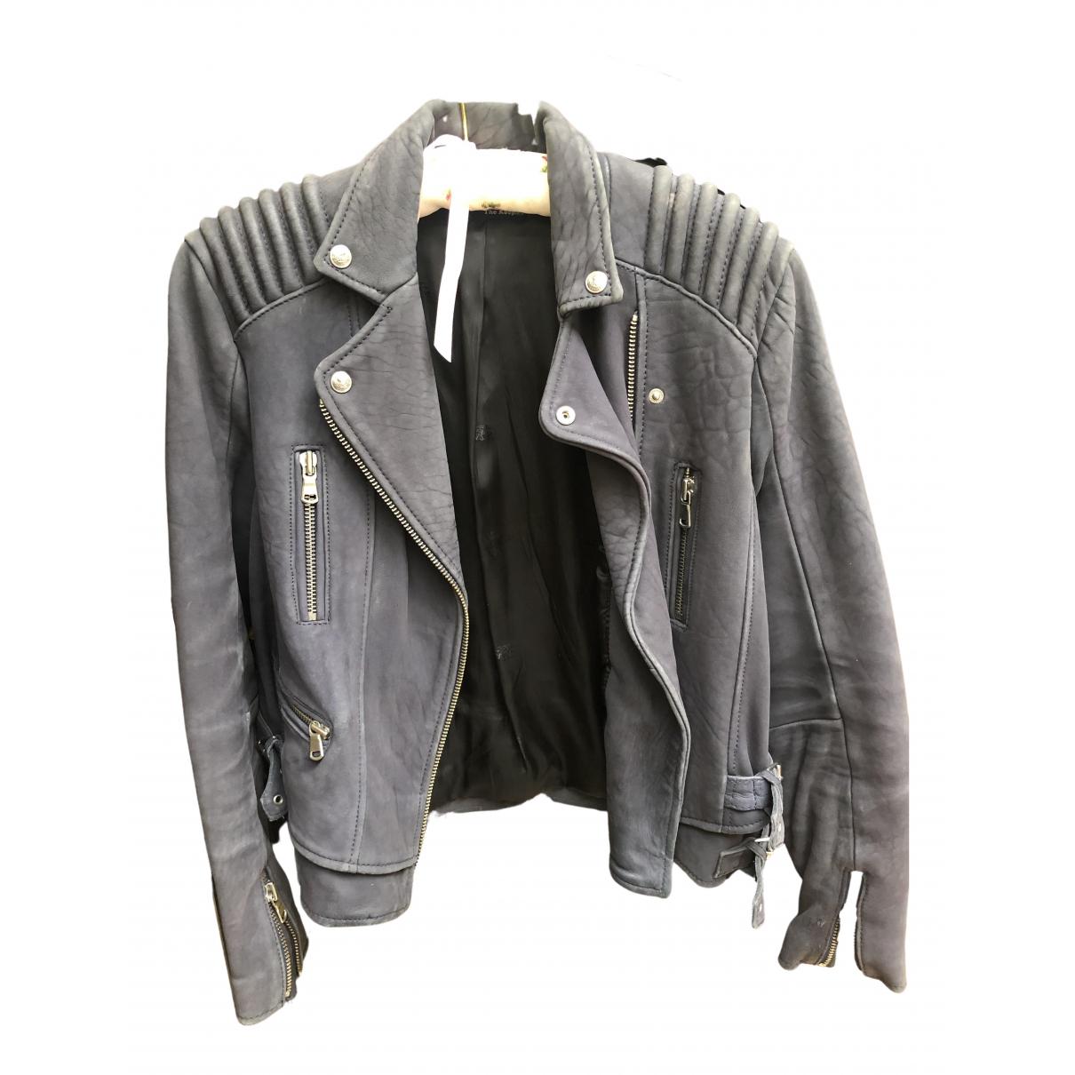 The Kooples \N Purple Leather jacket for Women 8 US