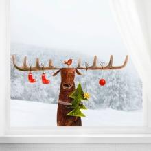 Christmas Deer Print Wall Sticker