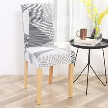 Graphic Print Stretchy Chair Cover