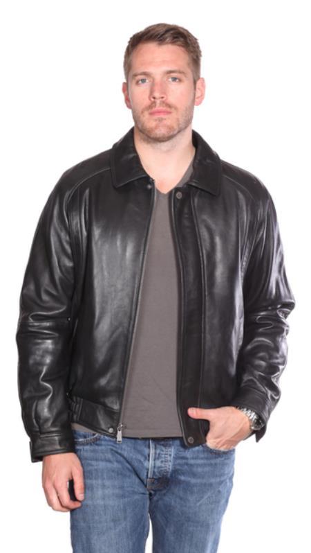 Easton Leather Bomber Black