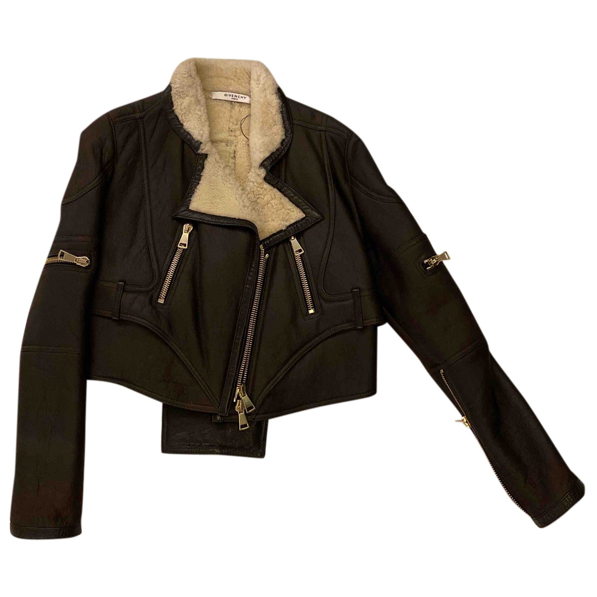 Givenchy N Brown Leather Leather jacket for Women 36 FR