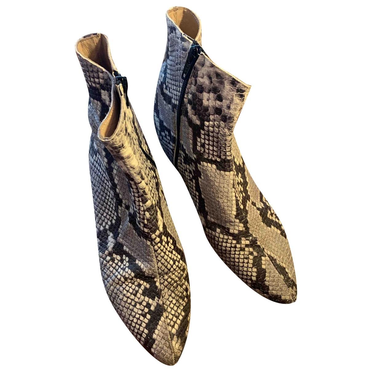 - Bottes Hippie Chic pour femme en serpent deau - beige