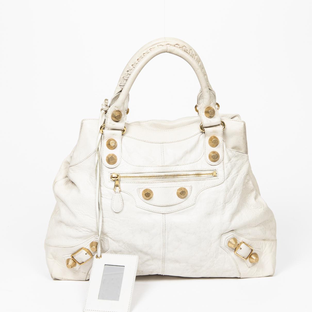 Balenciaga \N Handtasche in  Beige Leder