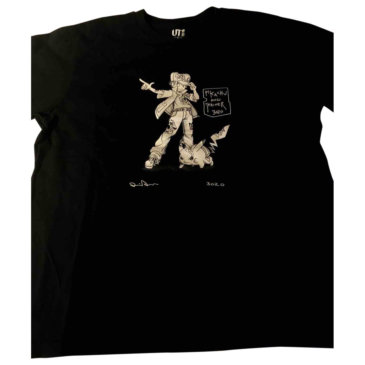 Uniqlo \N T-Shirts in  Schwarz Baumwolle