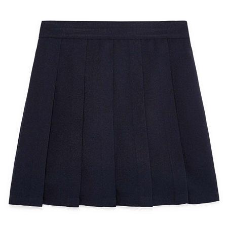 IZOD Comfort Waistband Little & Big Girls Scooter Skirt, 14.5 Plus , Blue